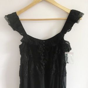 Free People Sheer Black Lacy camisole